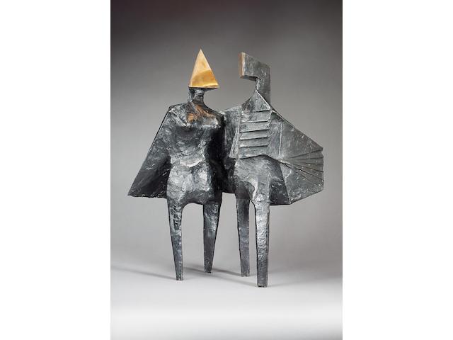 Lynn Chadwick (1914-2003) Winged Figures IV 63.5 cm. (25 in.) high