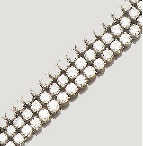 A diamond-set line bracelet