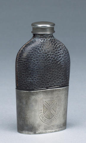 An 'Ecurie Ecosse' hip flask, 1950s,