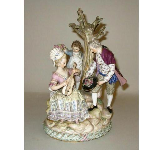 A Meissen figure group,