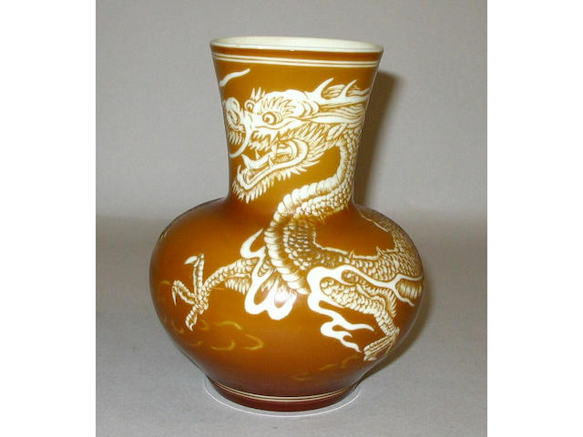A Stourbridge intaglio cut vase,