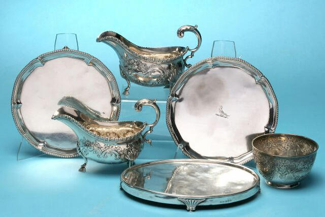 A pair of George II sauce boats, by George Smith II, London 1759,