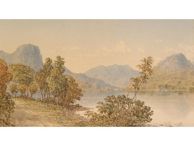 William T. Longmire (British, 1841-1914), Thirlmere in the Lake District; Another lakeland view, 26.7 x 46.3 cm. (2)