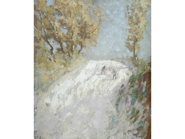 John Alfred Haggis (b.1897) Hot and dusty road, Australia 1925 37 x 31cm (14½ x 12¼in).