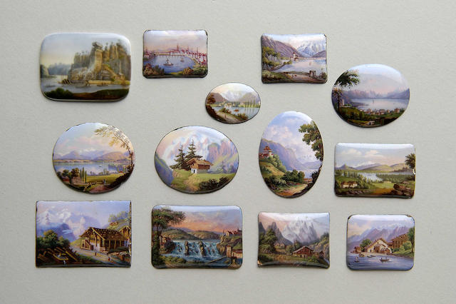 Swiss School (19th Century) A group of alpine scenes various sizes. (12)