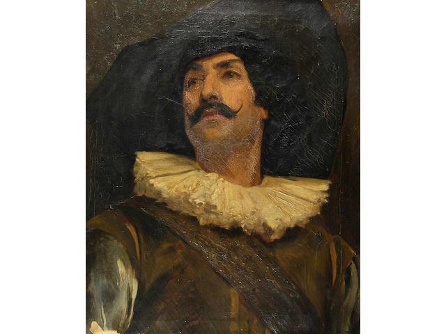 British School (late 19th Century) A half length portrait of a cavalier 60 x 50.5cm (23½ x 20in).