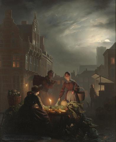 Petrus van Schendel (Belgian 1806-1870) Candlelight 39 x 31 cm. (15 1/4 x 12 1/4 in .)