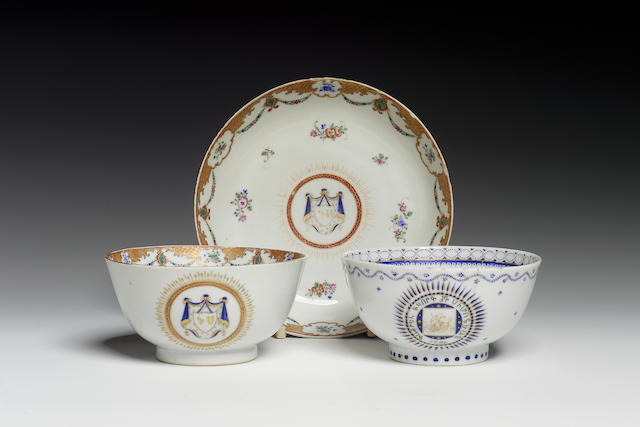 Three porcelain Vessels made for the Armenian market China, late 18th Century(3)