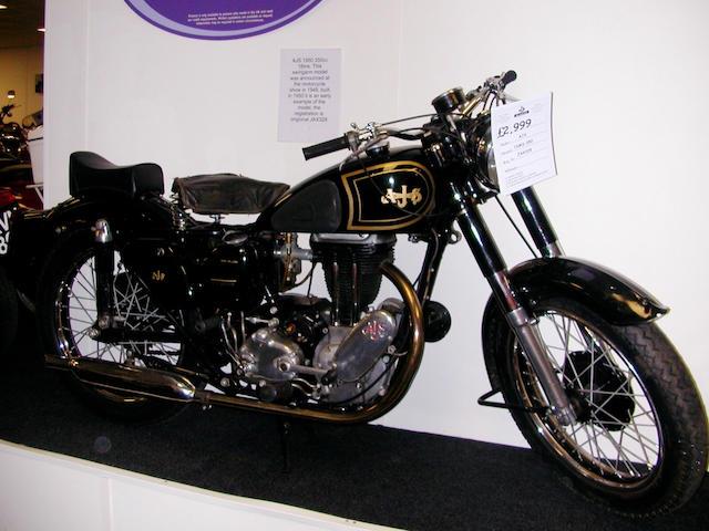 1950 AJS 348cc Model 16MS  Frame no. S1798 Engine no. 12067