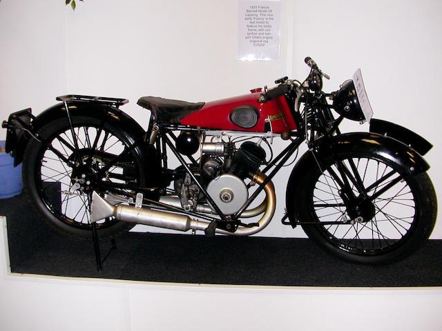 1933 Francis-Barnett 148cc Lapwing  Frame no. C25796 Engine no. GY3112