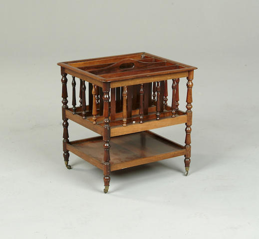 A Victorian rosewood canterbury