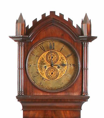 A mahogany Gothic longcase clock, John Todd, Glasgow, circa 1860,