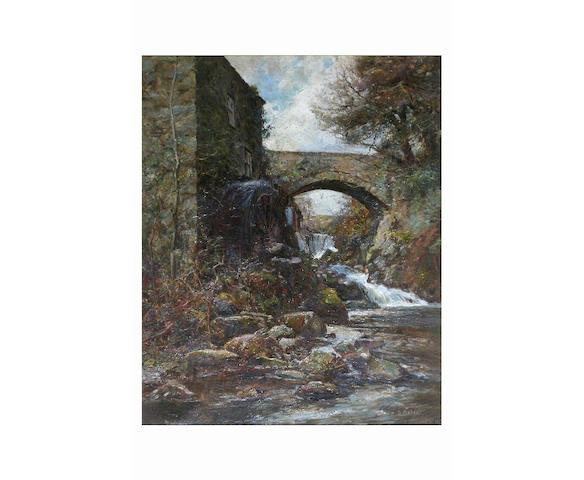 Benjamin Fisher 'Pontwgan Mill', 59 x 49cm.