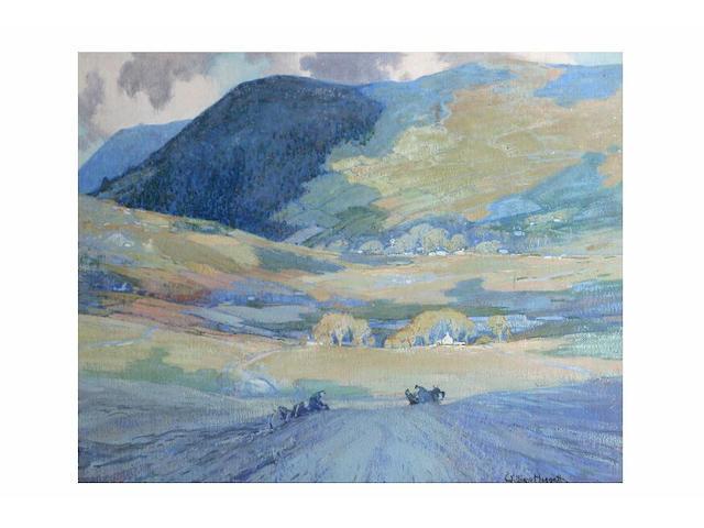William Hoggatt (1880 - 1961) 'Cloud shadows', 52.5 x 65cm.