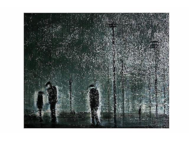 Theodore Major (1908 - 1999) 'Men and sky', 75 x 93cm.