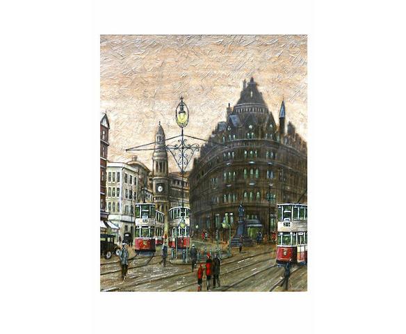Arthur Delaney (1927 - 1987) The Corn Exchange, Manchester, 34.5 x 28cm.