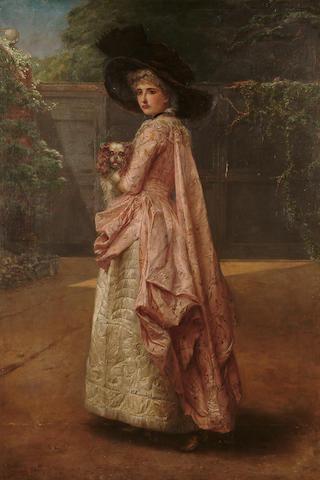 Henrietta May Ada Ward (British, 1832-1924) 'Rival Beauties', 43 1/2 x 29 1/2 in. (110.5 x 75 cm.)