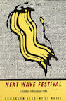 Roy Lichtenstein (American, 1923-1997) Next Wave Festival Poster 36 1/2 x 24in (92.5 x 61cm) (sheet)