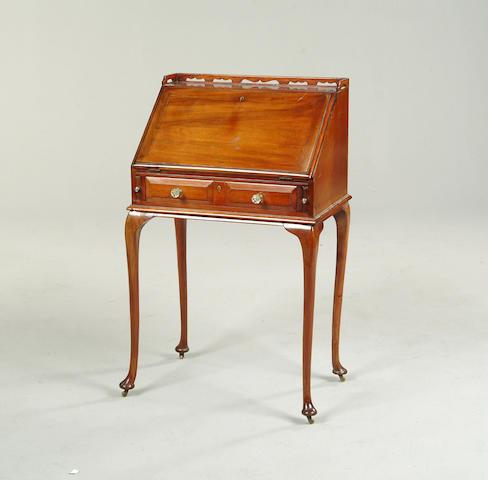 An Edwardian mahogany bureau