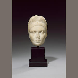 A marble head of Empress Plotina
