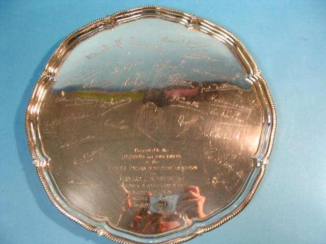 A presentation salver, Sheffield 1951,