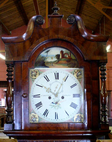 a vic fig mah long/case clock by Dutton of Hanley