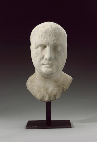 A marble head of an Isis priest, ex Bonhams   passport