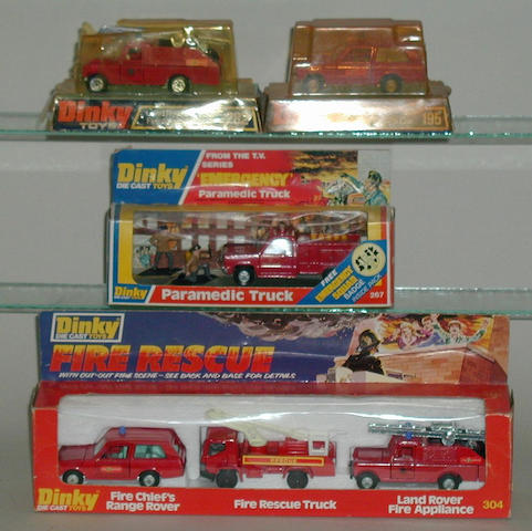 Dinky fire vehicles, 4