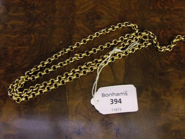 A 9ct gold belcher-link chain