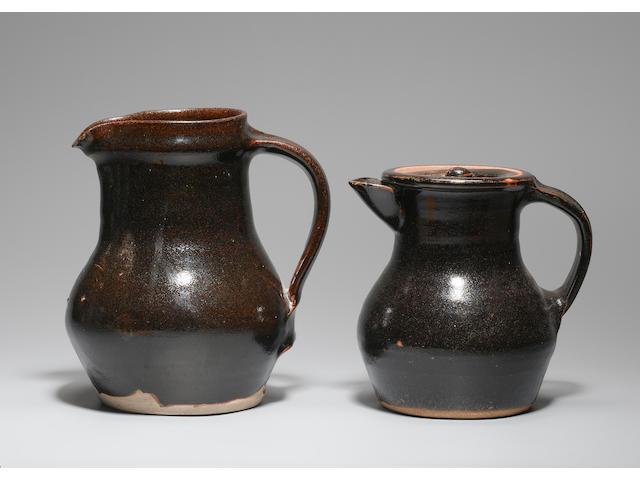 Bernard Leach a Jug and a Coffee Pot Height of Jug 7 1/2in. (19cm)