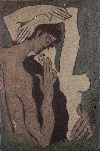 Sadequain (Pakistan, 1937-1987) Couple embracing