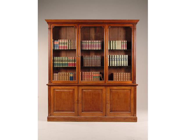 A 19th century mahogany library bookcase