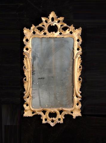 A George III style giltwood mirror