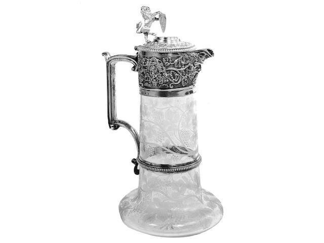 A Victorian claret jug,