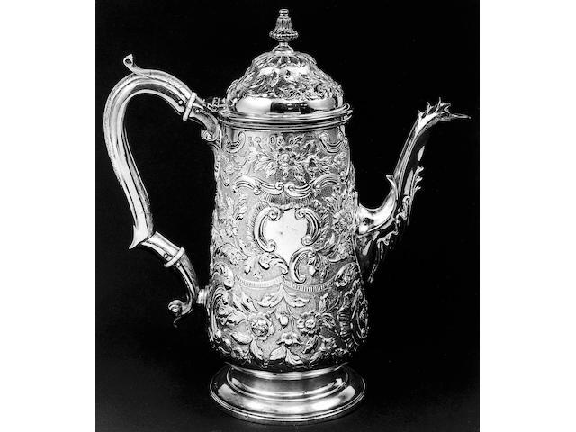 A George IV coffee pot,