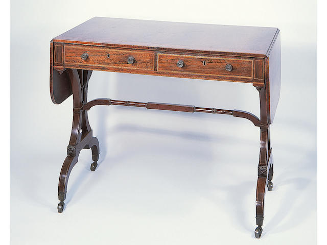 A Regency rosewood sofa table,