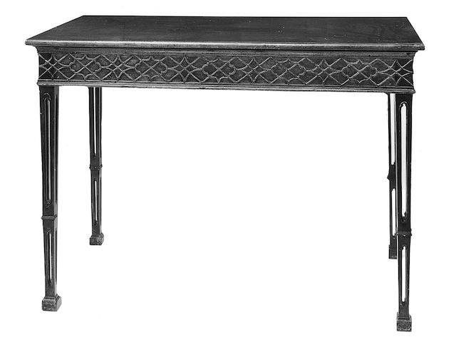 A George III style mahogany side table,