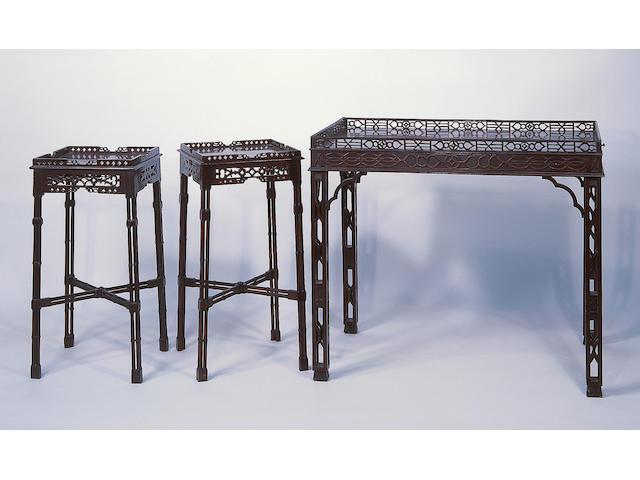 A George III mahogany urn stand,