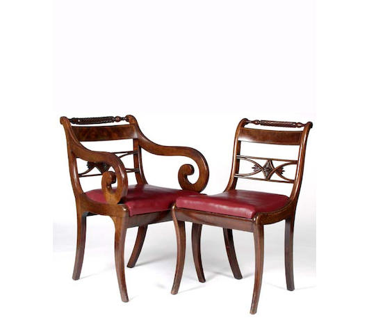 A set of eight 19th Century mahogany dining chairs