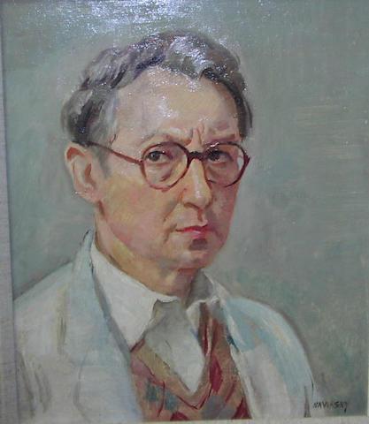 Philip Naviasky (1894-1983) Self portrait 44 x 36.5cm.