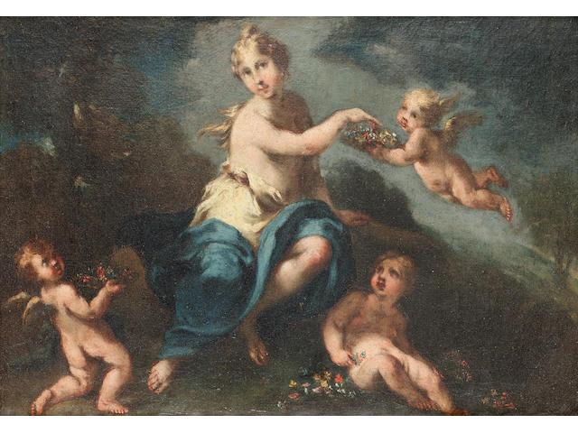 Michele Rocca, called Parmigianino (Parma 1675 - circa 1751 Venice) Flora 24 x 31 cm. (9½ x 12 1/8 i