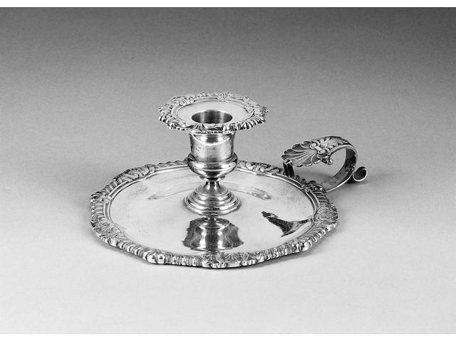 A George III silver chamberstick, by Paul Storr, London 1814,