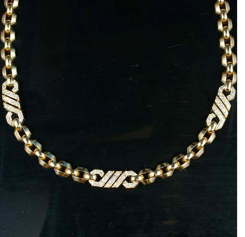 A diamond necklace, by Cartier,