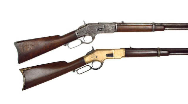 A .44/40 Winchester 1873 Late First Model Centre-Fire Repeating Rifled Carbine