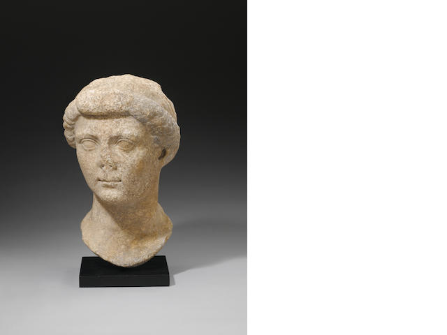 A Roman marble head of the Empress Livia