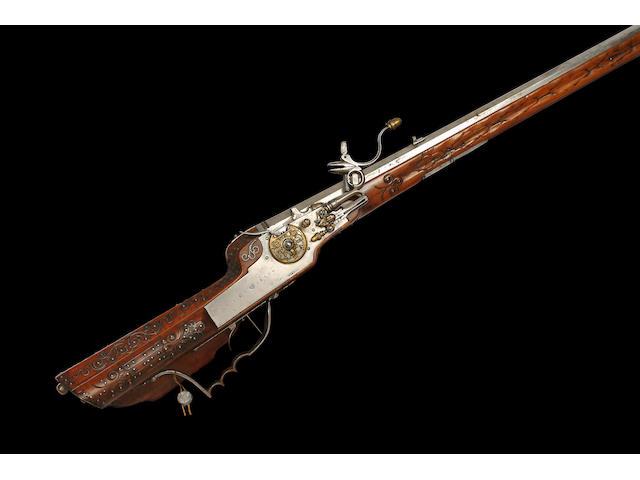 A German 22-Bore Wheel-lock Sporting Rifle