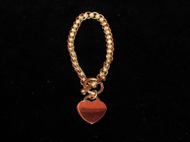 A 9ct gold fancy link bracelet