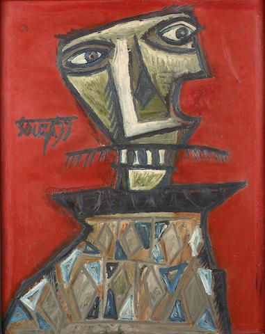 Francis Newton Souza (India, 1924-2002) Red Portrait