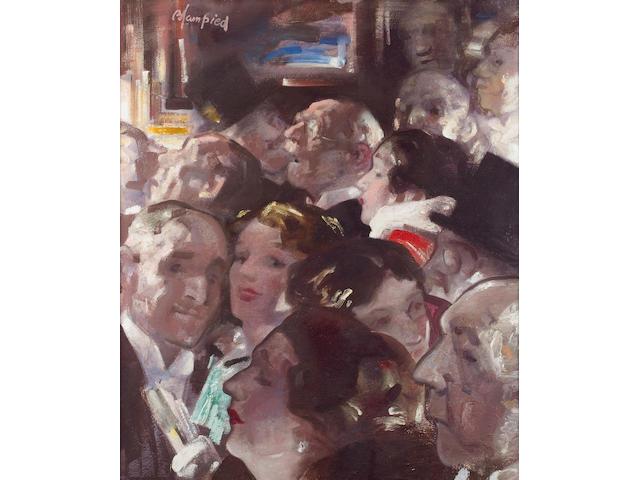 Edmund Blampied (Jersey 1886-1966) Theatre Sortie 74.2 x 61.5cm