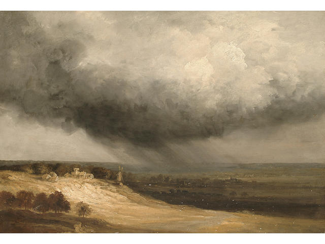 Georges Michel (French, 1763-1843) The approaching storm, 50.2 x 72.2 cm (19 3/4 x 28 3/8 in)